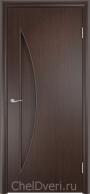 Ламинированная межкомнатная дверь ДГ 014  Венге