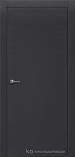 Межкомнатная дверь Краснодеревщик шпон дуба 700 Эмаль Черная глухая