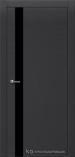 Межкомнатная дверь Краснодеревщик шпон дуба 701 Эмаль Черный Лакобель черное