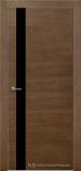 Межкомнатная дверь Краснодеревщик шпон дуба 701 Кофе Лакобель черное