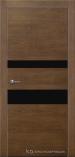 Межкомнатная дверь Краснодеревщик шпон дуба 703 Кофе Лакобель черное