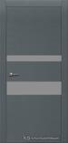 Межкомнатная дверь Краснодеревщик шпон дуба 703 Эмаль Серый Лакобель серое