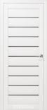 Дверь межкомнатная с 3D покрытием Альфа Белый дуб Стекло Графит