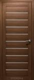 Дверь межкомнатная с 3D покрытием Альфа Грецкий орех Стекло Сатинат Белый