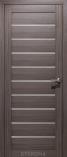 Дверь межкомнатная из эко шпона Альфа Дуб Неаполь Стекло Сатинат Белый