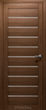 Дверь межкомнатная из эко шпона Альфа Грецкий орех Стекло Сатинат Белый