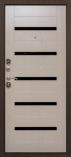 Металлическая входная дверь Страж 2К Молдинг Белый Венге