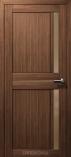 Дверь межкомнатная из эко шпона Дельта М Грецкий Орех Стекло бронза