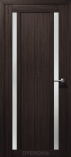 Дверь межкомнатная из эко шпона Гамма М2 Орех Бисмарк Стекло сатин