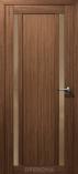 Дверь межкомнатная из эко шпона Гамма М2 Грецкий Орех Стекло бронза
