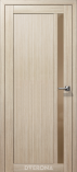 Дверь межкомнатная из эко шпона Гамма М Амурская Лиственница Стекло Бронза