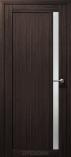 Дверь межкомнатная из эко шпона Гамма М Орех Бисмарк Стекло сатин