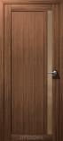 Дверь межкомнатная из эко шпона Гамма М Грецкий Орех Стекло Бронза