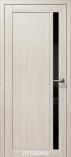 Дверь межкомнатная из эко шпона Гамма М Снежная Лиственница Лакобель черное