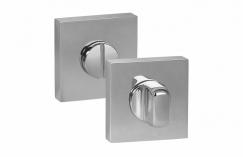 Дверная завертка на квадратной накладке «Palidore» МатНикель/Хром