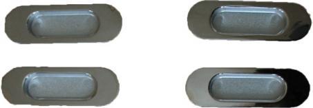 4 ручки-купе и 2 механизма (ролик, уголок)
