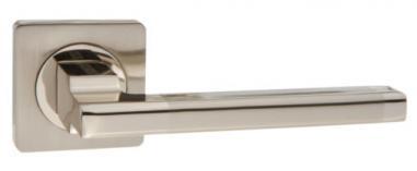 Ручка раздельная для межкомнатной двери «Puerto AL 514-02 SN/NP» никель матовый/