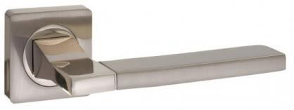 Ручка раздельная для межкомнатной двери «Puerto AL 524-02 SN/NP» никель матовый/